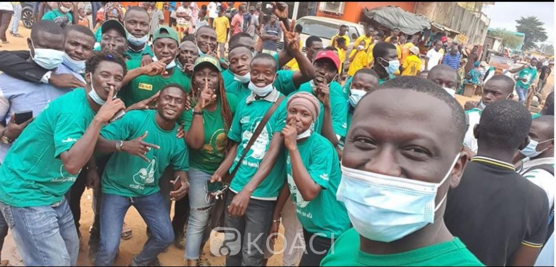 Côte d'Ivoire : À Abobo, les partisans de Ouattara dans les rues disent-ils pour un « échauffement » avant samedi