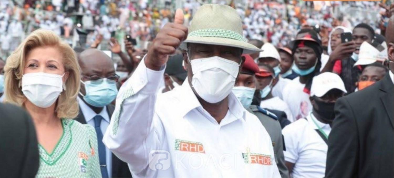 Côte d'Ivoire : Investiture du candidat du RHDP, Ouattara met en garde l'opposition et lui demande d'aller aux urnes si elle n'a pas peur de lui