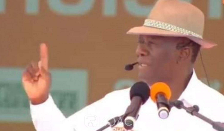 Côte d'Ivoire :  Après son investiture, Ouattara annonce le dépôt de sa candidature la semaine prochaine et se réjoui du million de parrainages des militants du RHDP