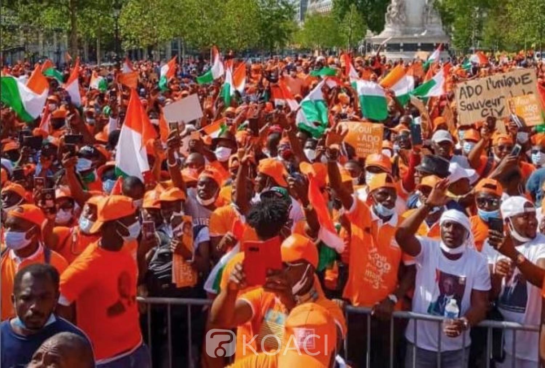 Côte d'Ivoire :  Grande mobilisation des militants du RHDP à la place de la Bastille, Lanciné Diaby à Soro: « Qu'il rentre en Côte d'Ivoire. Ou bien il veut être président sur Facebook ?»