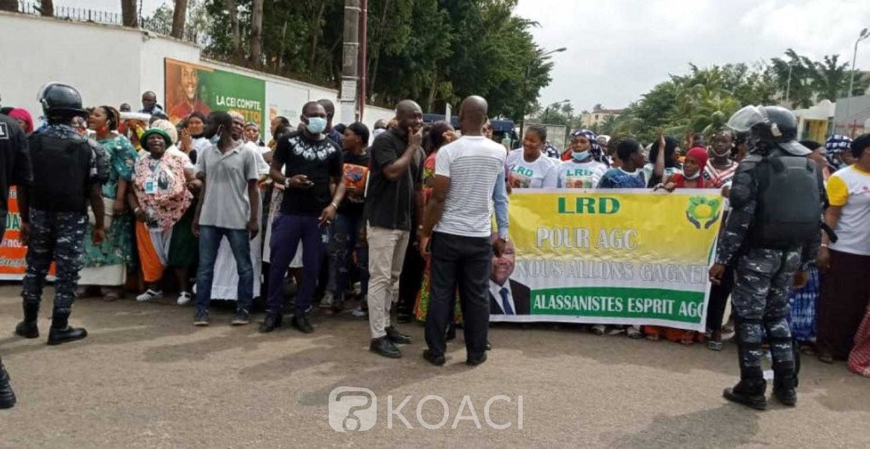 Côte d'Ivoire : Dêpot de candidature d'Alassane Ouattara, la police empêche une manifestation de militants du RHDP