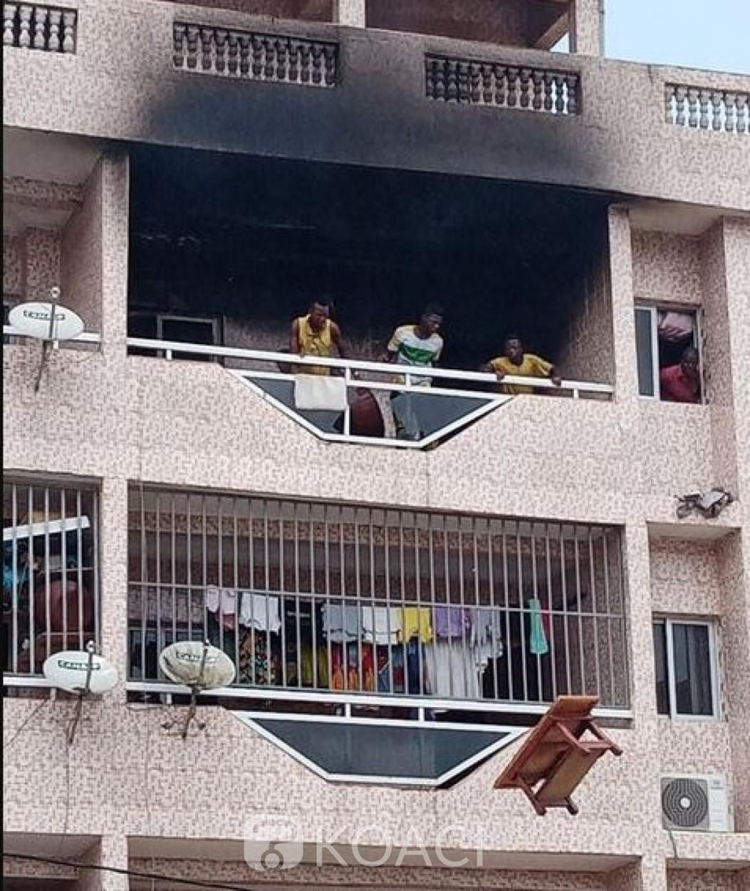 Côte d'Ivoire : Abobo-Gare, un incendie déclaré dans un immeuble, plus de peur que de mal