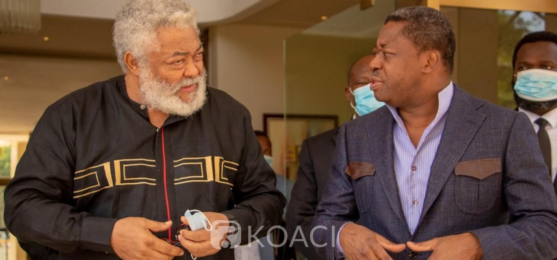 Togo :  Hommages de Rawlings à Edem Kodjo à Lomé