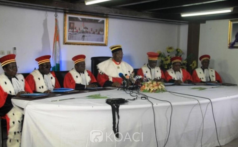 Côte d'Ivoire : Avant de se prononcer sur les dossiers de candidature, trois nouveaux membres du Conseil Constitutionnel  prêtent serment