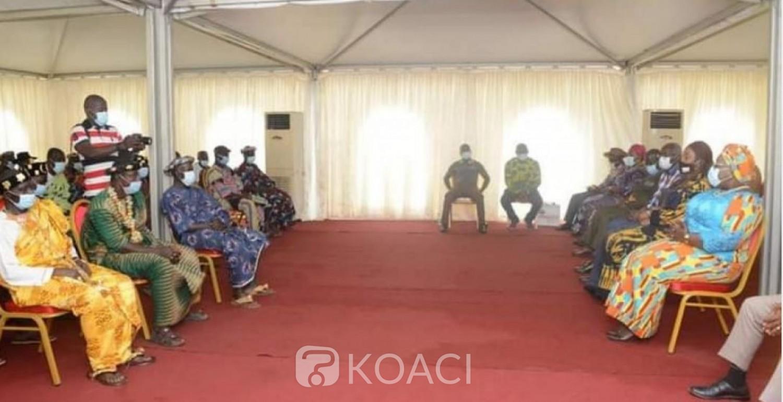 Côte d'ivoire : En prélude de la visite d'Etat, Anne Ouloto porteuse d'un message d'Alassane Ouattara aux chefs Agni Ahaly