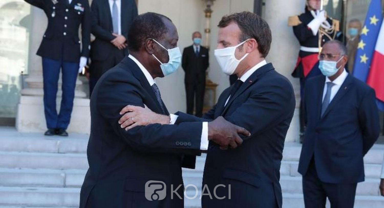 Côte d'Ivoire-France : Après avoir accepté d'être candidat, Emmanuel Macron reconnaissant du courage politique d'Alassane Ouattara