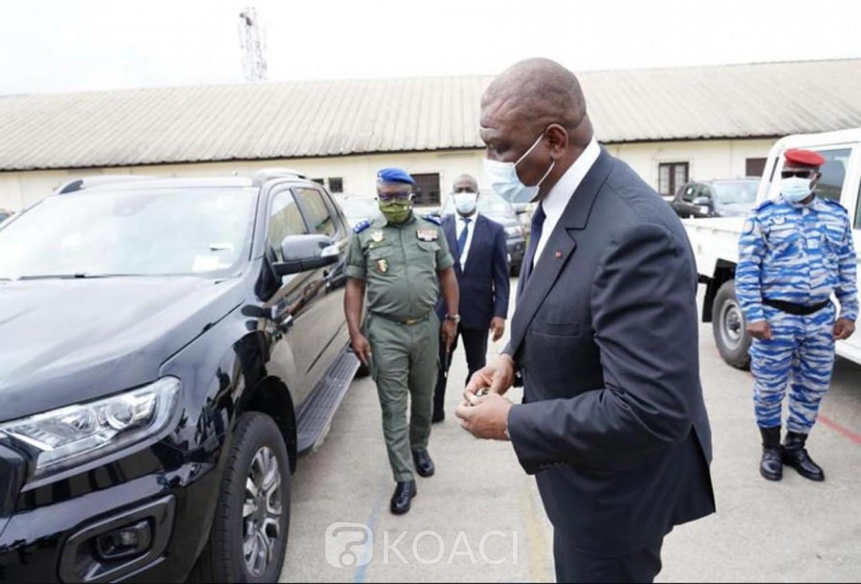 Côte d'Ivoire : Sécurisation du pays, la mobilité des armées et la Gendarmerie renforcée de 60 véhicules