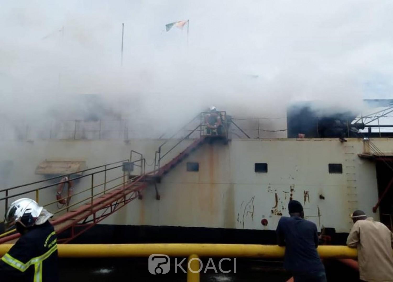 Côte d'Ivoire : Yopougon, un bateau à usage de scierie prend feu, plus de peur que de mal