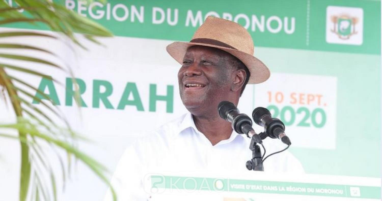 Côte d'Ivoire : Depuis Arrah, Ouattara à propos du Conseil constitutionnel : « Je fais confiance à ces hommes et femmes qui ont prêté serment et qui travailleront en toute confiance »