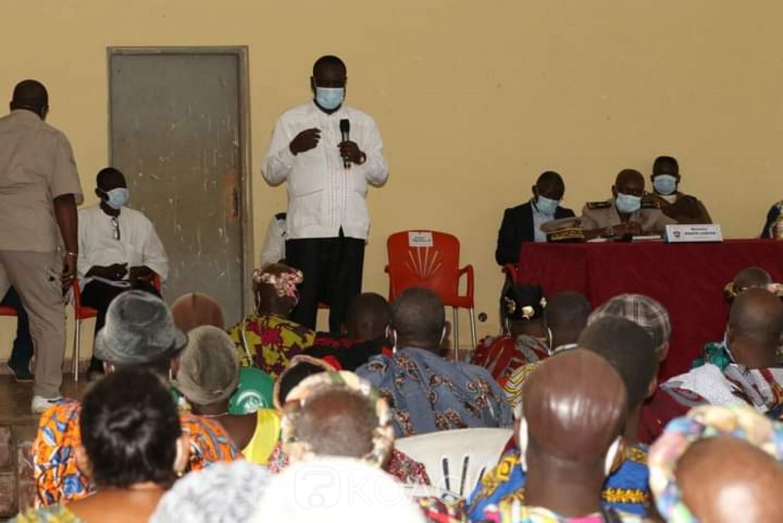 Côte d'Ivoire :  Depuis Bongouanou, les populations au Président Ouattara : « Excellence sachez que le Moronou sera toujours avec vous »