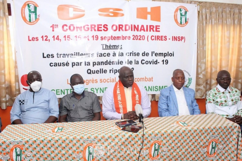 Côte d'Ivoire : La Centrale syndicale humanisme planche sur son plan stratégique de développement 2020-2030 en vue de faire face à la pandémie de la COVID-19