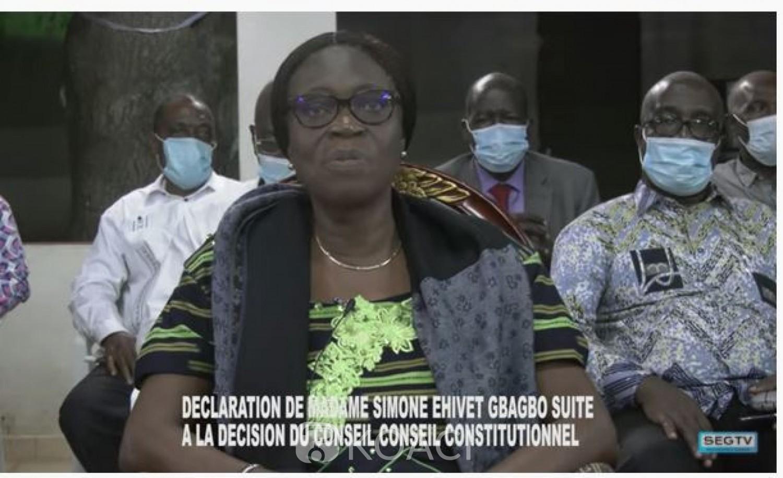 Côte d'Ivoire : Après la décision du Conseil Constitutionnel, Simone Gbagbo appelle à la discussion «Nous n'avons pas besoin d'une nouvelle crise»