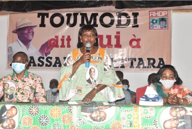 Côte d'Ivoire : Présidentielle 2020, Raymonde Goudou engage  Toumodi pour la victoire de Ouattara au premier tour