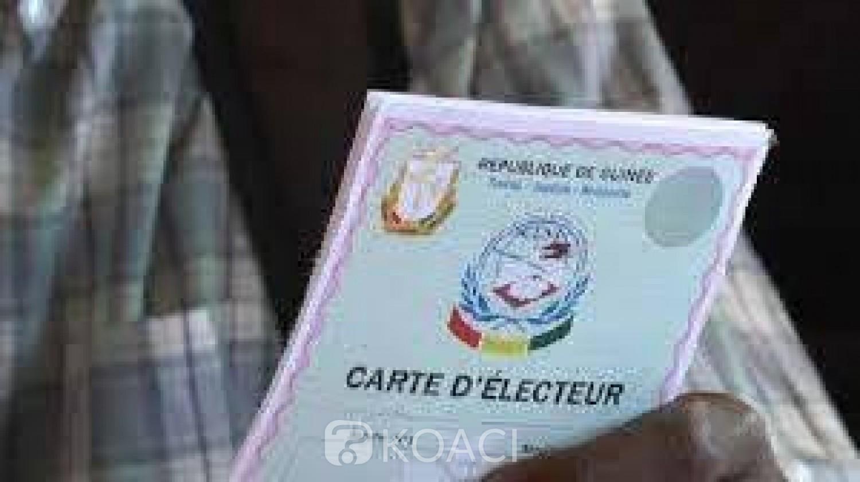 Guinée : Présidentielle, la distribution des cartes d' électeurs a démarré