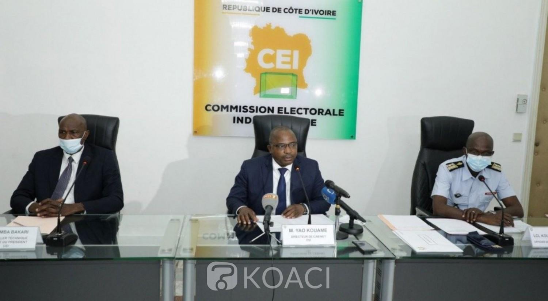 Côte d'Ivoire : Présidentielle 2020, la CEI échange avec les  directeurs de campagne et des responsables à la sécurité des candidats Ouattara, Affi  et KKB, le PDCI brille par son absence