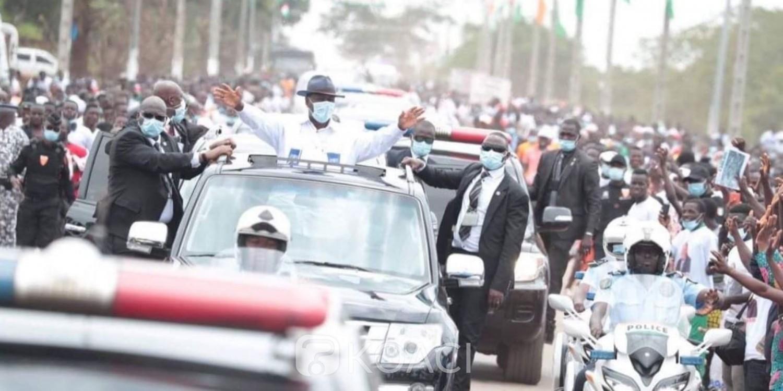 Côte d'Ivoire : Marahoué, Ouattara accueilli en fanfare à Zuenoula, les populations lui font de nombreuses doléances