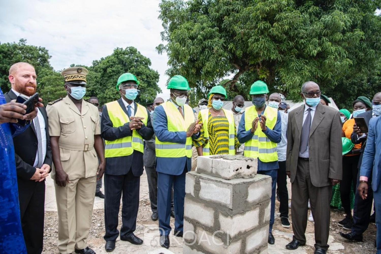 Côte d'Ivoire : Bouaké, Amadou Koné et Danho Paulin lancent les travaux de renaissance de la piscine municipale