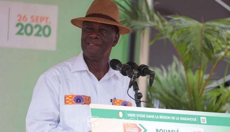 Côte d'Ivoire :   Bouaflé, Ouattara sonne la fin de la récréation : «Je mets en garde tous ceux qui veulent mettre le désordre. Si c'est ce qu'ils veulent, ils m'auront en face d'eux »