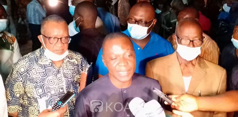 Côte d'Ivoire : Bouaké, Amadou Koné lance la précampagne RHDP Gbêkê 1 avec motos et véhicules offerts aux militants