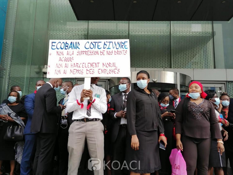 Côte d'Ivoire : Grève à Ecobank, la Direction générale « décide de continuer à conserver les avantages du personnel directement liés aux charges familiales »