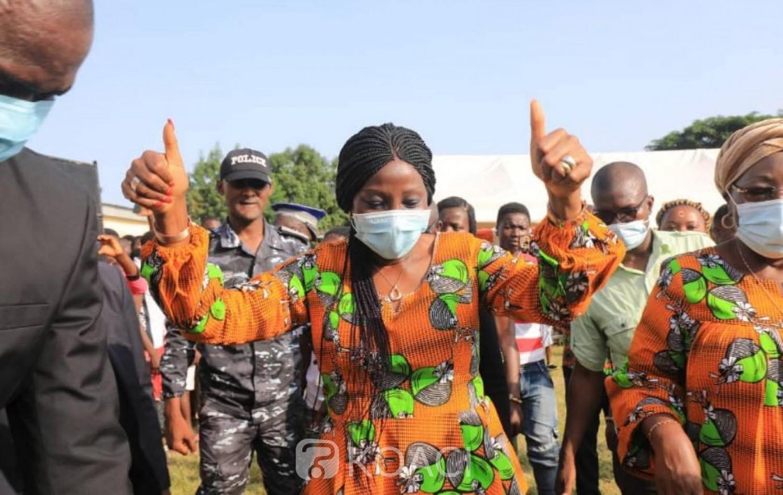 Côte d'Ivoire : Diabo, à six semaines de l'élection présidentielle, Kandia  Camara «vend » le candidat du RHDP aux peuples Gblo et Satiklan «Alassane Ouattara est le meilleur candidat, il a un bilan c