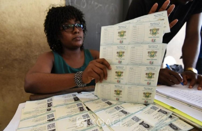 Côte d'Ivoire : Présidentielle 2020, distribution des cartes d'électeurs du 14 au 20 octobre
