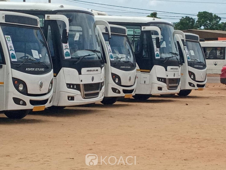 Côte d'Ivoire : Dabou, 22 véhicules neufs remis aux transporteurs des Grand Ponts dans le cadre du renouvellement du parc automobile initié par le gouvernement