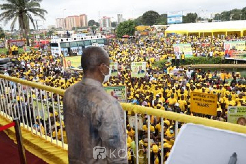Guinée : En meeting, Alpha Condé lance :« Il n'y aura jamais de guerre en Guinée »