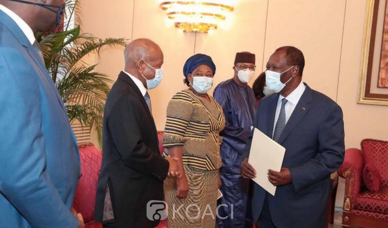 Côte d'Ivoire : Ouattara « assure » la mission conjointe CEDEAO–UA–ONU « de son engagement total à la tenue d'élection apaisée, inclusive et crédible »