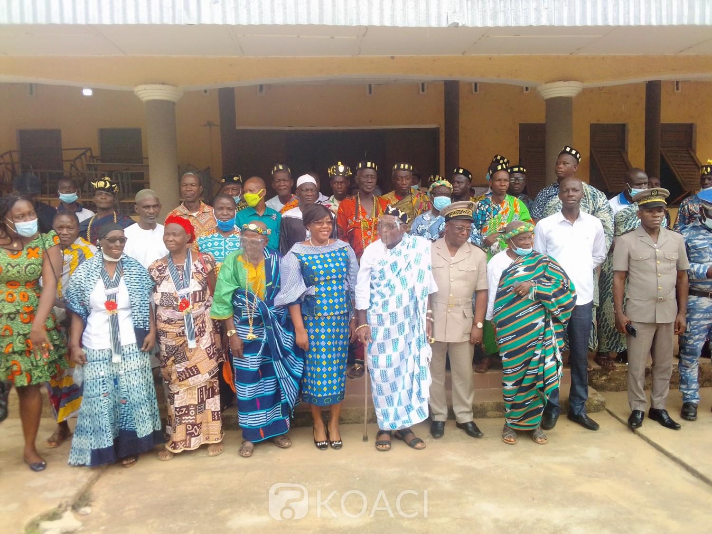 Côte d'Ivoire : Béoumi, avant l'élection présidentielle, chefs traditionnels et Euphrasie Yao prônent la paix