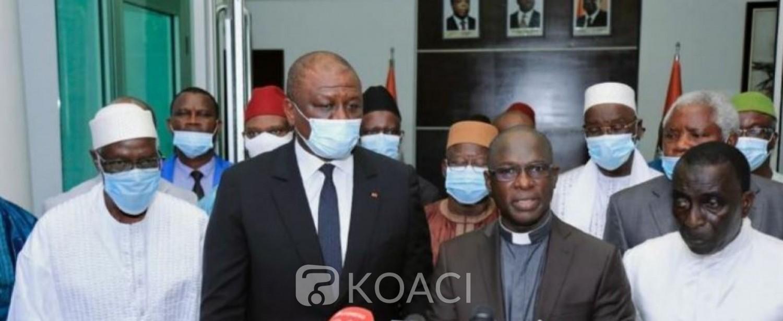 Côte d'Ivoire : L'Alliance des Guides religieux prend l'engagement devant le Premier Ministre de ne diffuser que des messages de paix aux Ivoiriens
