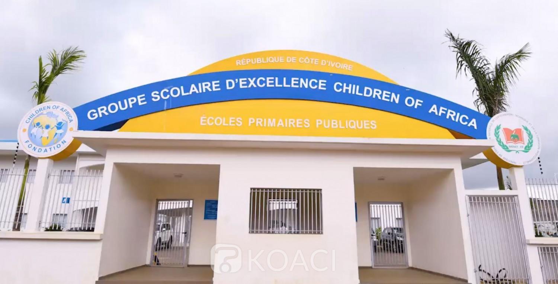 Côte d'Ivoire : Abobo, le couple présidentiel inaugure, le Groupe scolaire d'Excellence de la Fondation Children of Africa