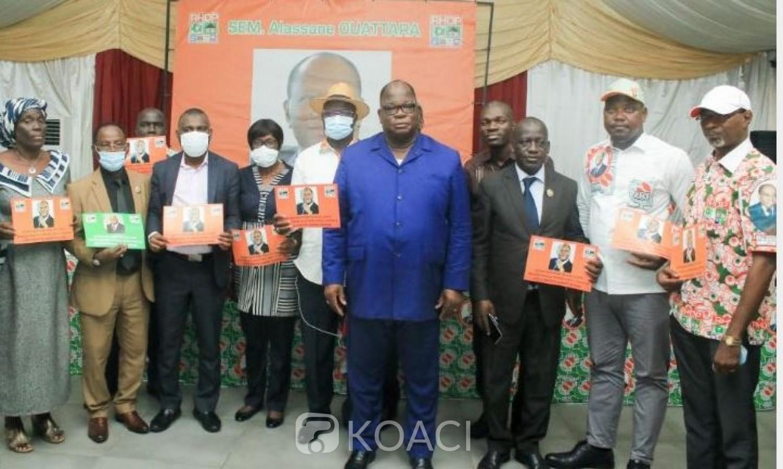 Côte d'Ivoire : Présidentielle 2020, Tchagba Laurent met en mission des élus et cadres qui ont rejoint le RHDP en provenance de l'UDPCI