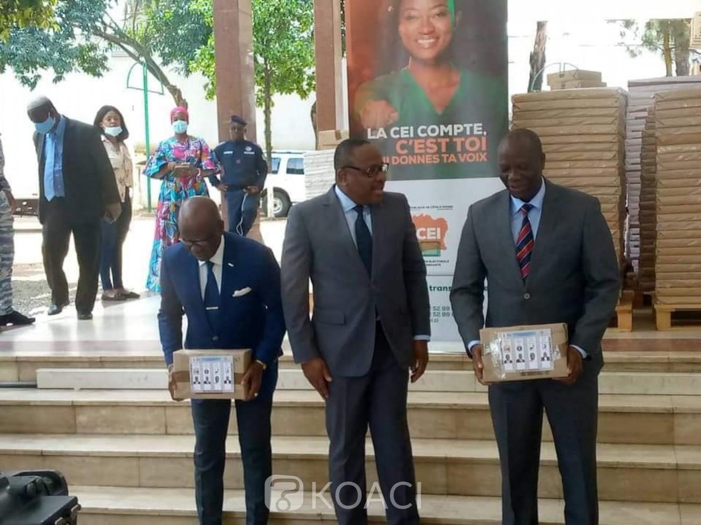 Côte d'Ivoire : La CEI remet les documents électoraux aux représentants des candidats KKB et Ouattara