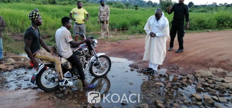 Côte d'Ivoire : Fort d'avoir visité 120 villages en une semaine, Méambly rentre à Abidjan gonflé à bloc pour le développement routier à Kouibly