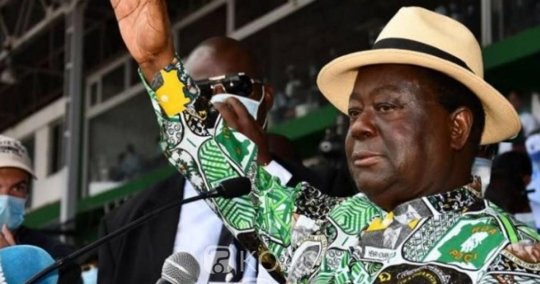 Côte d'Ivoire : Situation socio-politique, Henri  Konan Bédié annoncé à Accra