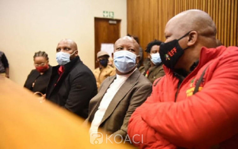 Afrique du Sud : Julius Malema en justice pour avoir agressé un policier blanc pendant les funérailles de Winnie Mandela