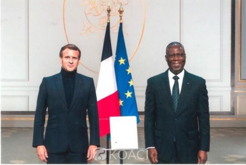 Côte d'Ivoire : Nommé depuis Mars, l'Ambassadeur Maurice Bandaman a enfin présenté ses lettres de créance  à  Macron
