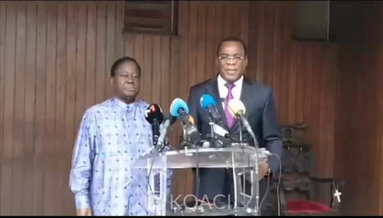 Côte d'Ivoire : Élection 2020, les candidats Affi et Bédié appellent les Ivoiriens à un boycott actif du scrutin