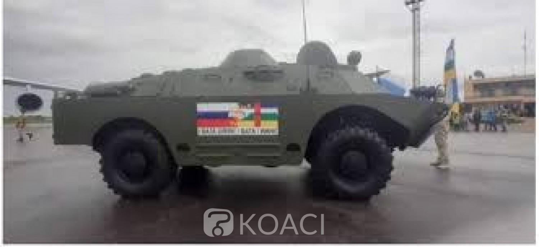 Centrafrique : La Russie livre une dizaine de blindés à l'armée