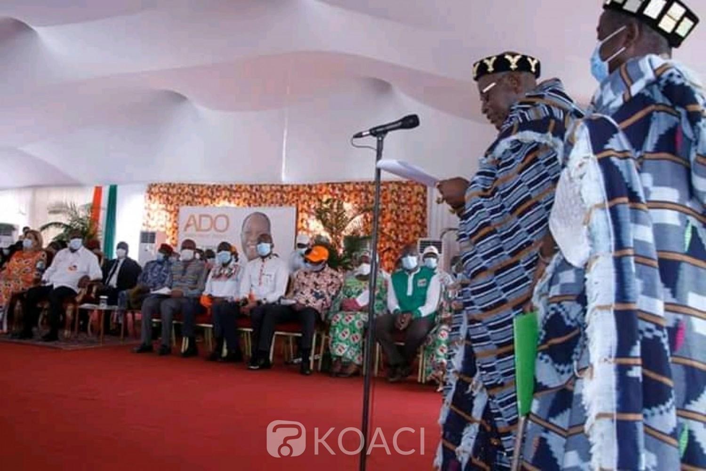 Côte d'Ivoire : Bouaké, le porte-parole des chefs Baoulé à Ouattara : « il n'y aura aucun doute que vous serez réélu dès le 1er tour...»