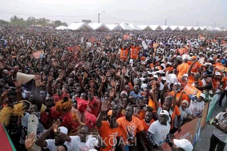 Côte d'Ivoire : Bouaké, pour l'ouverture de la campagne du RHDP, le site pris d'assaut par des milliers de militants