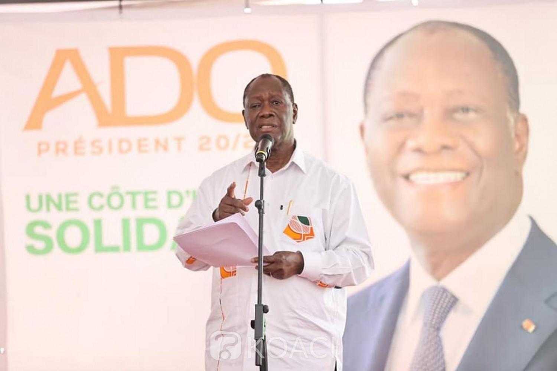 Côte d'Ivoire :    Man, campagne présidentielle, le candidat du RHDP rencontre les Chefs traditionnels, les guides religieux et les cadres du Grand Ouest