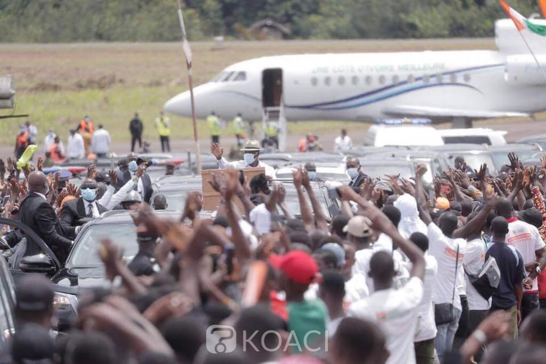 Côte d'Ivoire :   Man, les chefs traditionnels : « les peuples Dan et Wê resteront toujours fidèles au candidat du RHDP parce qu'il est la source du bonheur, la main de Dieu sur la Côte d'Ivoire »