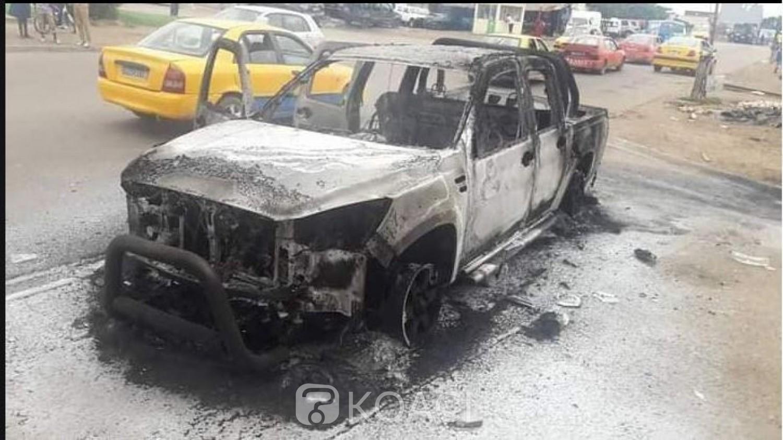 Côte d'Ivoire : Actes de vandalisme, un véhicule 4x4 de la mairie de Port Bouët incendié par des individus non identifiés