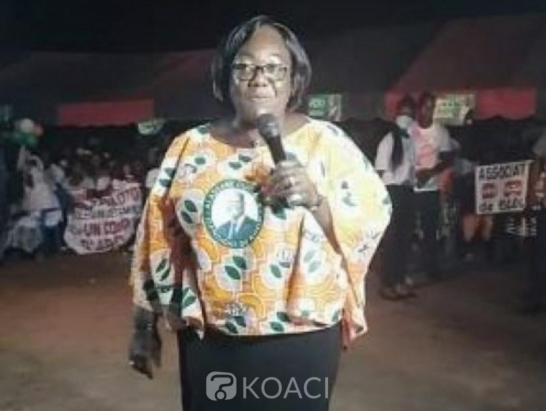 Côte d'Ivoire : Campagne Présidentielle, depuis Bloléquin, Anne Ouloto lance le   « concours » du département qui votera le plus Alassane Ouattara