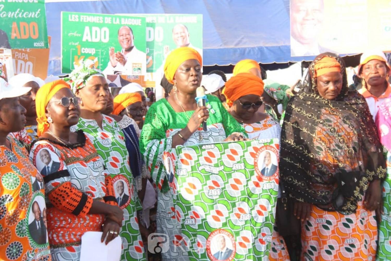 Côte d'Ivoire : Depuis la Bagoué, des femmes du RHDP promettent un taux de participation de 99,99 % dans la région