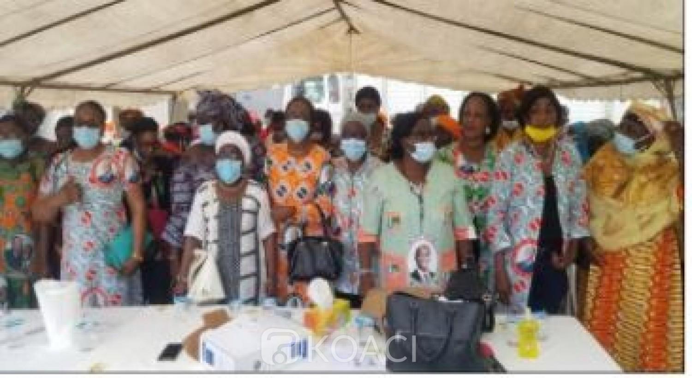 Côte d'Ivoire : Présidentielle 2020, les femmes  de l'UF- RHDP Cocody mobilisées   pour le « un coup KO  du Président Alassane Ouattara »