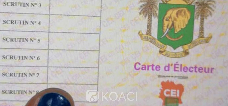 Côte d'Ivoire : A 5 jours du vote présidentiel, plus de 3 millions d'élécteurs ont retiré leur carte d'électeur