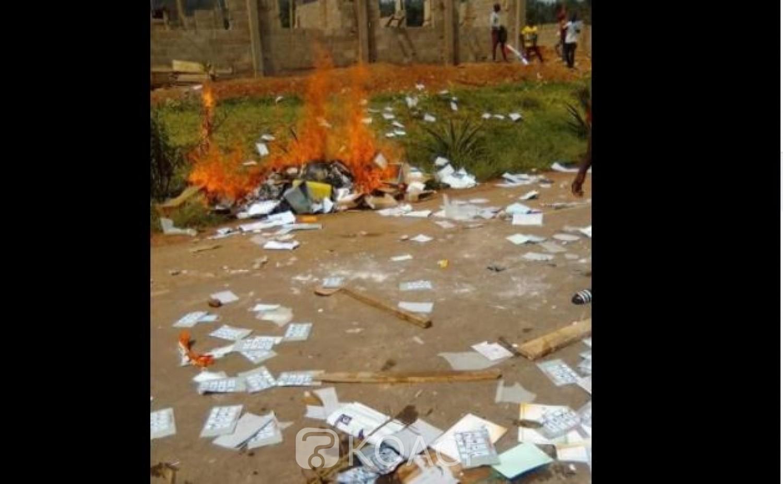 Côte d'Ivoire : Après Daoukro, les locaux de la CEI locale de Bongouanou visités par des casseurs, du matériel incendié